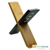 Powerplus Sphynx napelemes bambusz lámpa