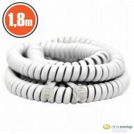 Delight  20113 Telefonkézibeszélő kábel 1,8m fehér