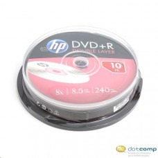 HP DVD+R DL 8.5GB 8x Dual Layer DVD lemez hengeres 10db/henger