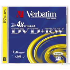 Verbatim DVD+RW 4.7GB 4X DVD lemez
