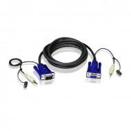 ATEN KVM Kábel VGA Audio 1.8m