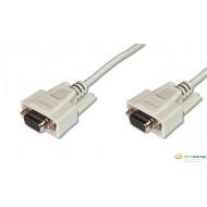 ASSMANN RS232 Connection Cable DSUB9 F (jack)/DSUB9 F (jack) 2m beige AK-610106-020-E