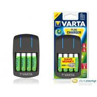 Varta Plug töltő+ AA 2100 mAh akku (4db akkuval) Ready 2 USE /57647101451/