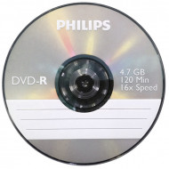 DVD lemez Philips 4,7GB -R slim