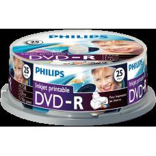 Philips DVD-R 4,7Gb 16x Hengeres 25db/csomag (az ár 1db-ra vonatkozik és csak hengerben vásárolható)