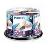 Philips DVD-R 4,7Gb 16x Hengeres 50db/csomag (az ár 1db-ra vonatkozik és csak hengerben vásárolható)