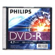 Philips DVD-R 4,7Gb 16x Slim utólag csomagolt