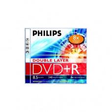 Philips DVD+R 8,5Gb 8x kétrétegű normál tok (1-es címke)