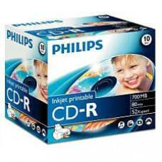 Philips CD-R80 52x normál tokos     lemez