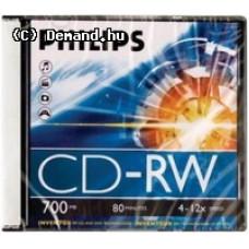 Philips CD-RW80 12x újraírható    lemez