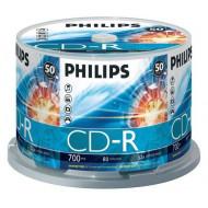 PHILIPS CD Lemez CD-R80 50db/Henger 52x CPHC50