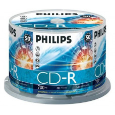 PHILIPS CD Lemez CD-R80 50db/Henger 52x CPHC50