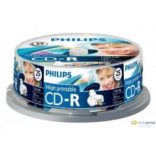Philips CD-RW 80'/700MB újraírható lemez nyomtatható hengeres 25db/cs