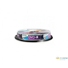 Philips DVD-R 4.7GB 16X DVD lemez hengeres 10db/cs