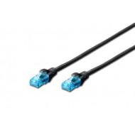 Digitus Premium CAT 5e UTP patch kábel fekete 1,0m DK-1512-010/BL
