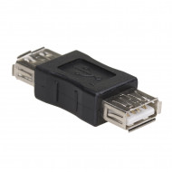 AKYGA Adapter AK-AD-06 USB-AF/USB-AF The cable plug #1USB Female connector type A, The cable plug #2USB Female connector type A, Version2.0, Plated plugs -  nikel AK-AD-06