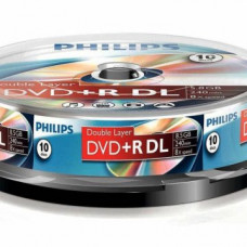 Philips DVD+R85DLCB*10 cake-box Dual-Layer 8x csomag