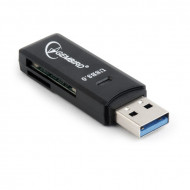 Gembird compact USB 3.0 SD/MicroSD Card Reader, blister UHB-CR3-01