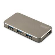 DIGITUS Hub 4-port USB 3.0 SuperSpeed, Power Supply, HQ aluminum DA-70240