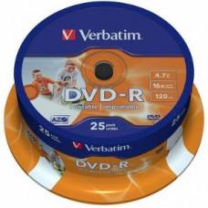 Verbatim DVD-R [ cake box 25   4.7GB   16x    Wide nyomtatható ] 43538