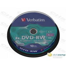Verbatim DVD-RW [cake box 10   4.7GB   4x ] 43552