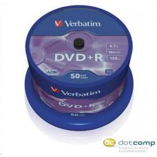 Verbatim DVD+R [ cake box 50   4.7GB   16x   matt ezüst ] 43550