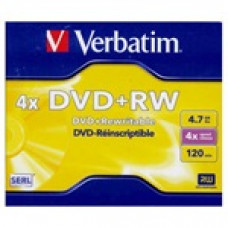 Verbatim DVD+RW [ jewel case 5   4.7GB   4x ] 43229
