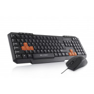 "Logic Billentyűzet+Egér Kit - Gaming LKM-201 (extra ""gamer"" gombok; USB; fekete; optikai egér; magya"