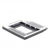 Gembird  HDD/SSD Notebook beépitő keret- ODD helyére, 12.7mm, 12mm, MF-95-0