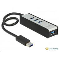 DELOCK USB 3.0 HUB 4 portos 62534