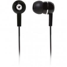 V7 IN-EAR EARBUDS BLACK STEREO HEADPHONES