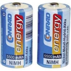 NiMH baby akkuk, 5500 mAh, 2 részes készlet, Conrad energy