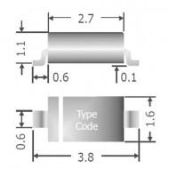 Univerzális szilícium dióda, 1 N 4148, ház típus: SOD-123F, I(F) 150 mA, zárófeszültség: U(R) 75 V, Diotec 1N4148W