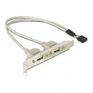 DELOCK Hátlapi kivezetés USB 9pin to 2x USB 2.0