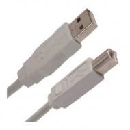 WIRETEK kábel USB Összekötő A-B, 3m, Male/Male