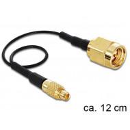 DELOCK MMCX csatlakozódugó > RP-SMA Jack adapter (120 mm)