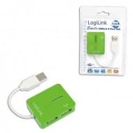 LOGILINK Smile USB 2.0 hub 4-port Green