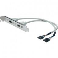 USB kábel 2x - 2x 0.25 m Bézs Digitus AK-300301-002-E