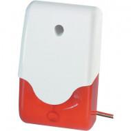 ABUS SG1681 sziréna piros villogóval 9-12V/DC 100dB IP34