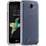 Utángyártott LG K4 Ultra Slim 0.3 mm szilikon hátlap tok, átlátszó