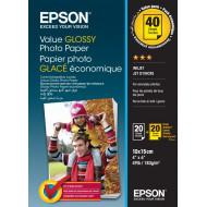 Epson 10x15 Gazdaságos Fényes Papír 20 Lapos 183g C13S400037