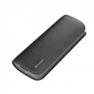 PLATINET Power Bank hordozható töltő bőr borítással 5200mAh Fekete + micro USB Kábel
