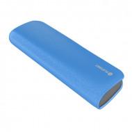 PLATINET Power Bank hordozható töltő bőr borítással 7200mAh Kék + micro USB Kábel