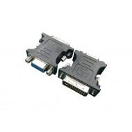 Gembird adapter DVI-A 24-pin apa / VGA 15-pin HD (3 sor) fekete A-DVI-VGA-BK