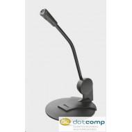 Trust Mikrofon - Primo Desk (c.sz:21674, 2x3.5mm jack csatlakozó, 180cm kábel, + TRRS adapter, sötét