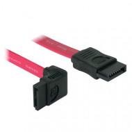 DeLOCK (84354) SATA 2.0 kábel 22cm piros L  (SATA anya - SATA anya)