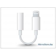 Apple Apple eredeti lightning adapter 3,5 mm jack füllhallgatóhoz - MMX62ZM/A - fehér (csomagolás nélküli) APL-0270