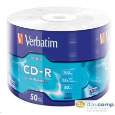 Verbatim DataLife 80'/700MB 52x CD lemez zsugorhengeres 50db/henger /43787/