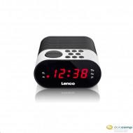 Lenco CR-07 W FM szintézeres ébresztősrádió fhér