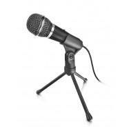 Trust Mikrofon - Starzz (c.sz:21671, Studió design, 3.5mm jack csatlakozó, 250cm kábel, állvány, fek